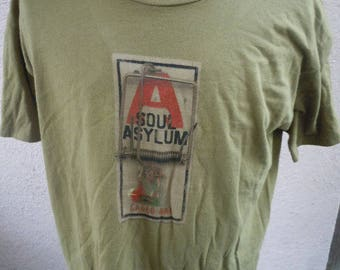 Size XL (49) ** Rare 1995 Soul Asylum Caged Rat Shirt (Single Sided)