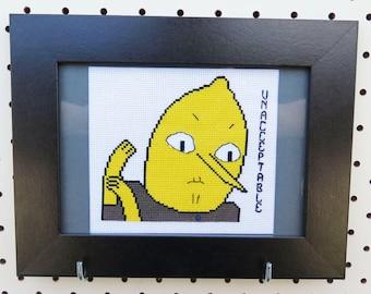 Adventure Time Lemongrab Cross Stitch Pattern