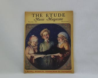 December 1936 The ETUDE Music Magazine. Christmas Music Magazine, Collectible Music, Antique Music Magazine