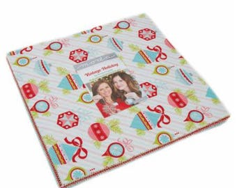 """Vintage Holiday by Bonnie and Camille for Moda Layer Cake - 10"""" Squares"""