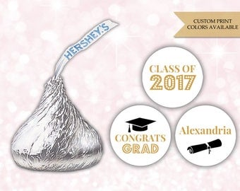 Graduation Hershey kiss stickers (108) - Hershey kiss stickers graduation - Graduation stickers (HK007)