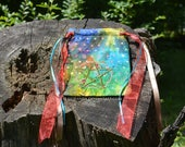 Embroidered Pouch - Floral Pentacle