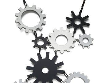 Cogwheel necklace