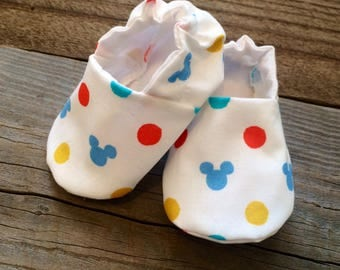Mickey Mouse baby Booties, Mickey Mouse baby shoes