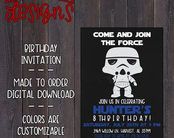 Stormtrooper Birthday Invitation