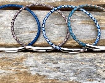 European Leather Bracelets Gift under 20 Leather jewelry for Women Natural Leather Bracelet for Men Unisex Leather Bracelet CS24