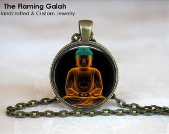 BUDDHA Pendant •  Praying Buddha •  Meditating Buddha •  Buddhist Jewellery •  Buddhism •  Made in Australia  (P1479)