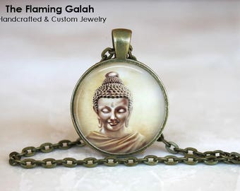 THAI BUDDHA Pendant • Buddha Art • Buddha Face • Buddhist Jewellery • Buddhism • Gift Under 20 • Made in Australia (P1536)