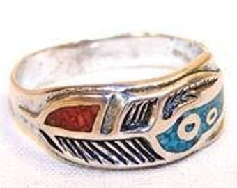 Colored Band Biker Ring
