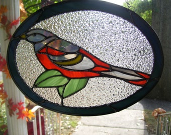Stained Glass Baltimore Oriole Sun catcher