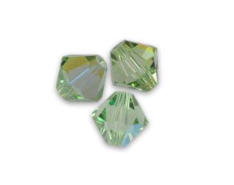1 lot 20 Swarovski 4mm peridot ab Swarovski Crystal bicone beads