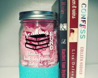 Money Jar // Glittered // Reading Fund