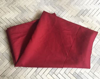 Red Crepe Polyester Fabric
