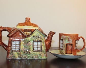 Price Kensington Cottage Ware Teapot with Coordinating Cup and Saucer