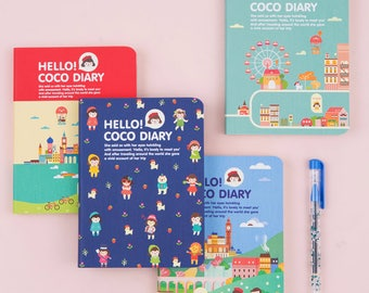 2018 Hello CoCo Diary Planner Scheduler Schedule Book Journal Notebook