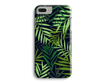 Tropical Phone Case, Green Palm Leaves Jungle Plants 3D Phone Case iPhone 7 Plus iPhone 6 6S Plus iPhone 5 5S Galaxy S7 Edge S6 Edge S5 Case