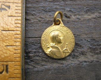 Joan of Arc Medal, French Religious Medal, French Catholic Pendant