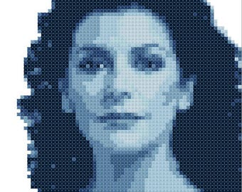 Counselor Deanna Troi cross stitch pattern