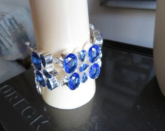 "Faceted 320CTS Tanzanite Quartz 925 Silver Bracelet Jewelry Silver Ebay Christmas Special, 6"" to 9""/Adjust"