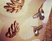 Hummingbird Cloisonne Earrings ParadoxThrift