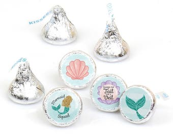 Hershey Kiss® Stickers - Bachelorette Party - Trading The Tail For A Veil Round Candy Bridal Shower Favors – 108 ct – Fits Hershey's® Kisses