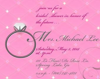 Diamond Ring Bridal Shower Invitation