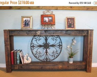 SALE Natural Reclaimed Farmhouse Sofa Console Table