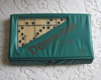 Dominoes Vintage Games and Toys Set of 28 Double Six