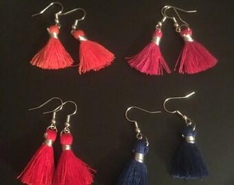 Small Thread Tassle Earrings
