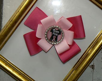 Headband or barrette Fleur Team Pink