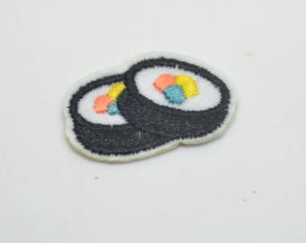 Shield patch 3.3x2 cm sushi fusible interfacing or sewing
