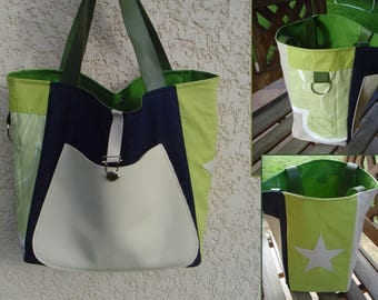 Large tote bag pattern - a little green Apple