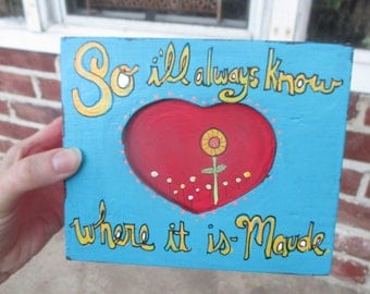 Harold and Maude quote hand painted on vintage wood box, keepsake box, so i'll always know where it is - Maude, harold and maude movie