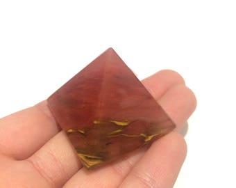 Tiger cherry quartz pyramid polished point small