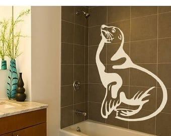 20% OFF Summer Sale Seal animal wall decal, sticker, mural, vinyl wall art