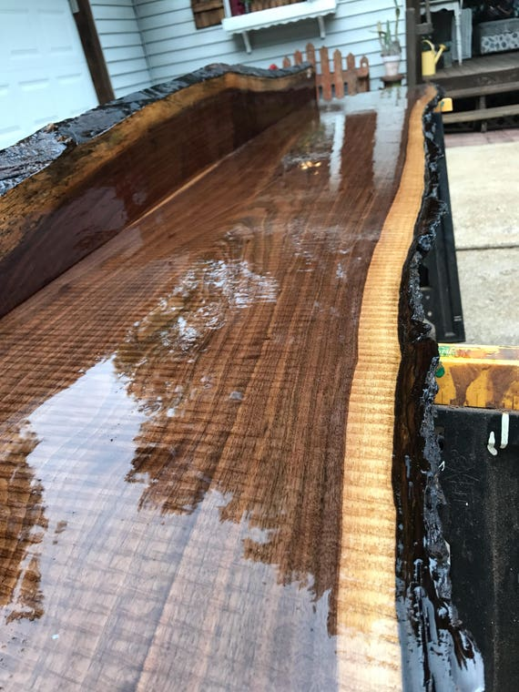 J r finishing services live edge slab finishing bar tops for How to finish a wood slab