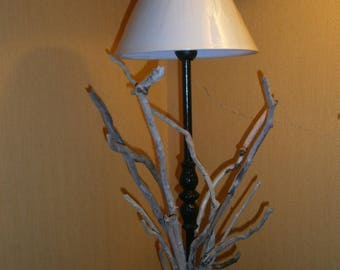 Driftwood lamp and cord