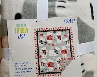 48'' No Sew Throw Bears with Sweaters