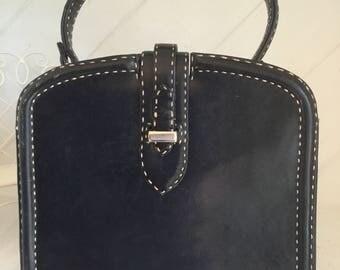 Vintage Top Handle Handbag, 50s Handbag,60s Handbag