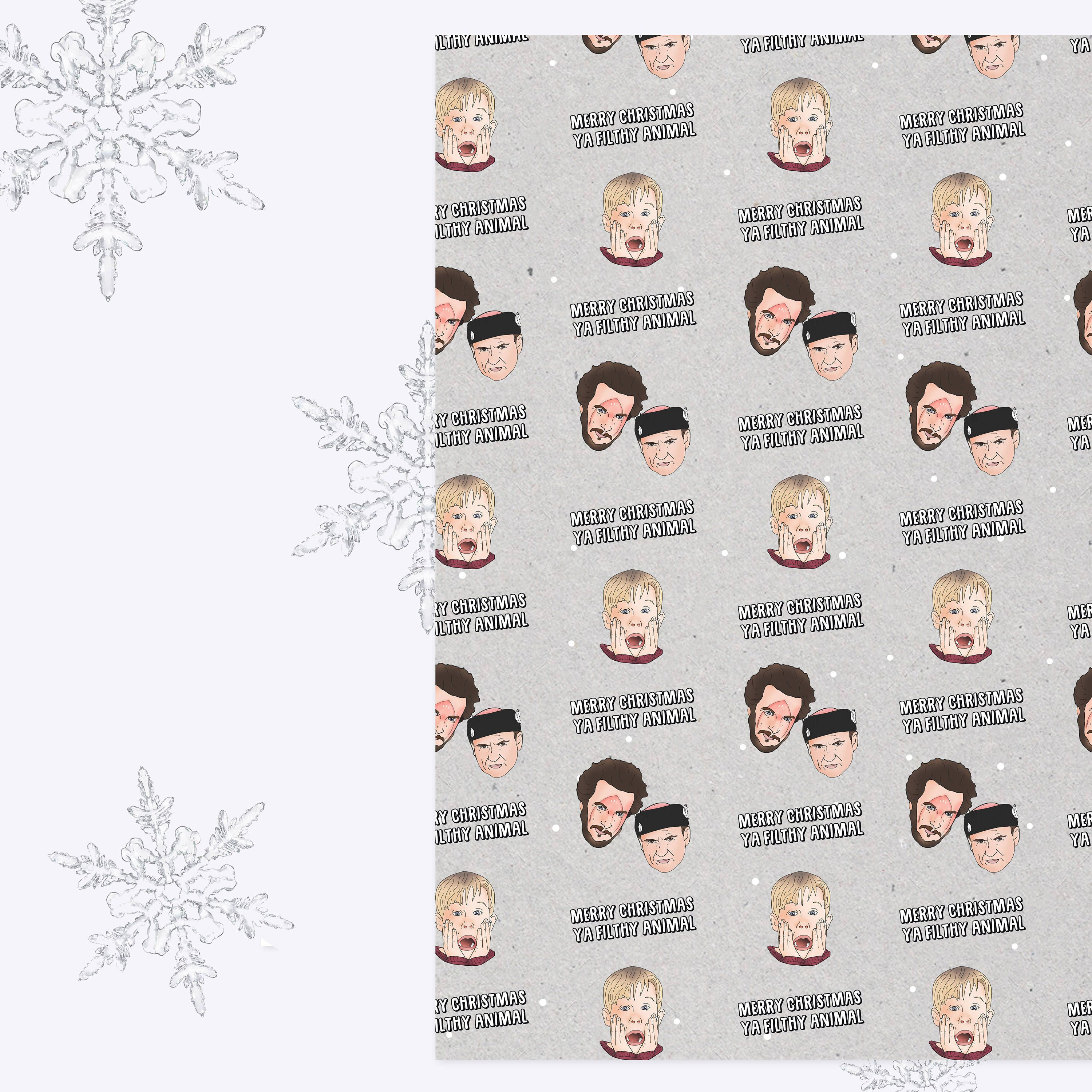 Home Alone Christmas Gift Wrap Sheets Wrapping Paper A3