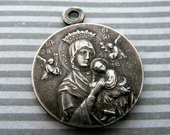 Vintage French Our Lady of Perpetual Help Medal