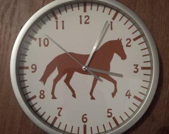 clock wall decor Brown horse