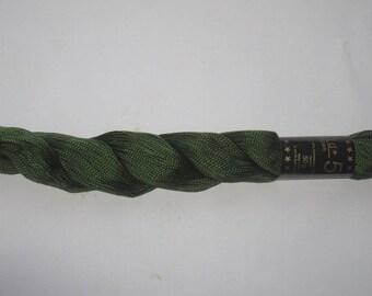 2 Pearl Cotton skeins Perlgarn Gold 5 forest green Rellana 2150