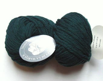 5 big skeins Pure wool N 8 forest green 25