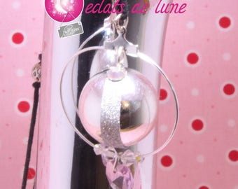 Bola pregnancy genuine Princess pink with Pearl and swarovski rhinestones