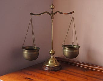 Vintage Brass Scales Of Justice - Vintage Scale.