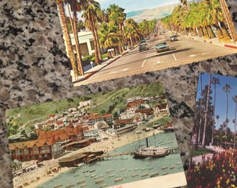 Vintage California Postacerd Lot Including Paul C. Koeber's Postcard City of Avalon by the Sea Santa Catalina Island