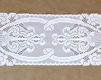 """Table Runner White Lace 50"""" x 9"""""""