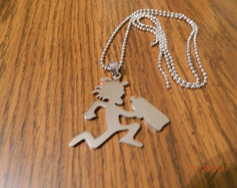 FAYGO drinking htchetman 100% polished stainless steel w/ 30 inch ball chain