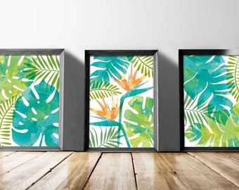 Tropical Flora // A4 Prints // 3 designs available